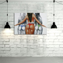 Modern Abstract Painting Canvas Modern Wall Pictures Sexy Grils Cheerleaders Football Girls Frameless Oil Painting Art Pictures