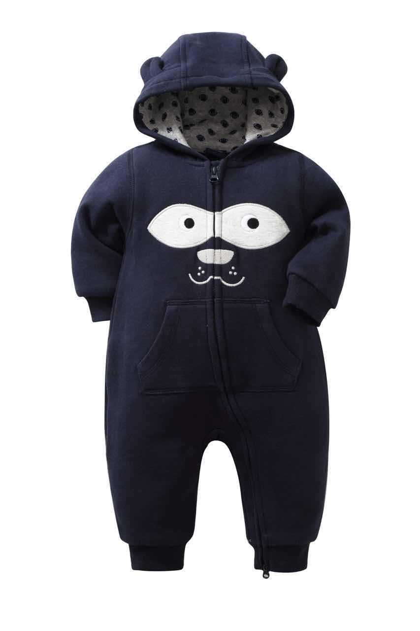 Cute Cartoon Moneky Baby Rompers Newborn Kids Cotton Two-way Zipper Tracksuits Baby Boy Clothes Winter Vestido Infantil Hooded<br><br>Aliexpress