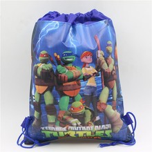 Non-woven Fabrics Teenage Ninja Turtles Theme Kids Backpack Boy Kid Favors Birthday Party Baby Shower decoration Drawstring Bag