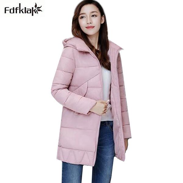 Korean winter jacket women large size long coat female snow wear cotton parkas hooded thick warm coats and jackets 7 colors Îäåæäà è àêñåññóàðû<br><br>