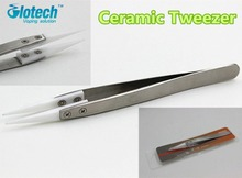 Heat Resistant anti-static ceramic tweezers electronic cigarette removable stainless steel  Tweezers coil jig tool