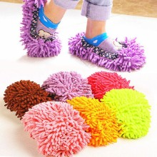 1pc 5 Colors Dust Mop Slipper House Cleaner Lazy Floor Dusting Cleaning Foot Shoe Cover Dust Mop Slipper Home Accessories