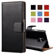 Buy Genuine Leather Case Samsung Galaxy Note 4 N9100 Wallet Style Flip Stand Phone Back Cover Coque Samsung Note 4 Cases for $2.99 in AliExpress store