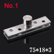 HOT 2PCS Stainless Steel 75*18*3.0mm Door Hinges Upper and Lower Hinge 360 Degree Rotating Door Pivot Hinges K185(China)