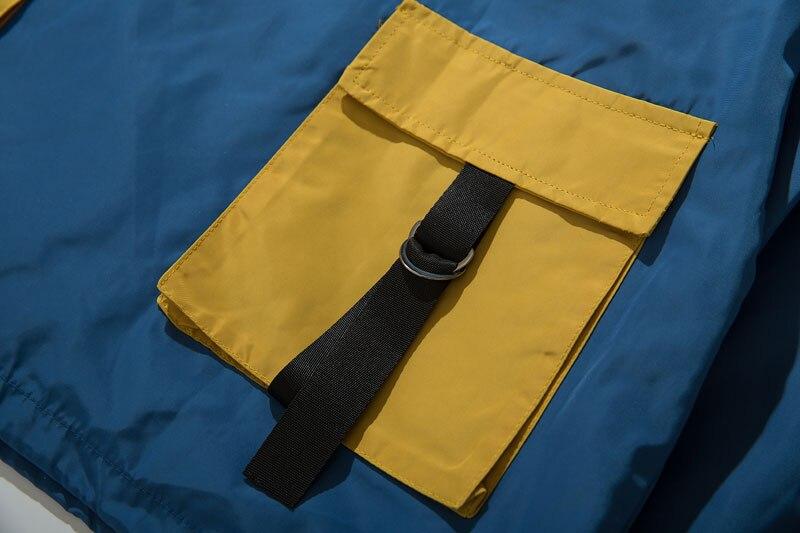 Color Block Patchwork Half Zipper Pullover Jackets 16