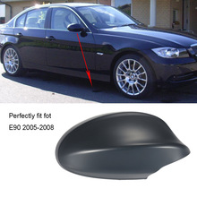 Car Right Rearview Mirror Shell Covers Car Door Side View Protection Cap Housing Cases for BMW E90 2005-2008