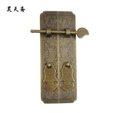 [Haotian vegetarian] shoe bookcase cabinet classical Chinese antique copper handle large models HTC-283 birds(China)