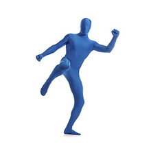 Buy (MZS008) Halloween costume men fetish shiny sexy dark blue catsuit lycra spandex zentai suit