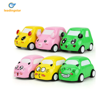 LeadingStar Children 1 Pcs/6 Pcs Cartoon Emoji Alloy Mini Pull Back Car Toys Push and Go Vehicles Molds Random Color zk20(China)