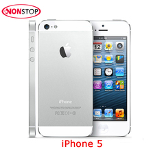 "Unlocked Original Apple iPhone 5 Nano-SIM Used iPhone 4.0"" IPS 8MP Camera Smartphone WIFI GPS 3G Used Mobile Phones Dual Core(China)"