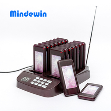 Mindewin High Quality Design Restaurant Wireless Pager System 16 Call Coaster Paging Queuing System Restaurant Equipments