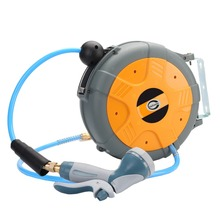 LS-810W 8x12mm 1M Electric Auto Rewind Water Hose Reel Automatic Retractable Reel Air Hose Reel(China)