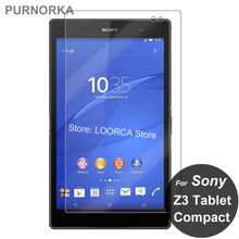 For Sony Xperia Z3 Tablet Compact Tempered Glass 9H Screen Protector Protective Film On SPG612 SGP621 SGP641 SGP 621 641 612 8.0