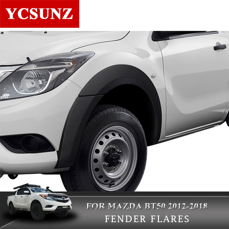 "Fender Flare Wheel Arch 4/"" Matte Black Fit Mazda Bt-50 Pro Pickup 2012-2016"