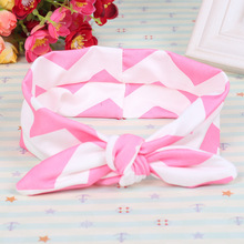 newest Stretchy girls headband cute cotton hairband Top Knot Turban Head band Kids Knotted Head Wrap Girls Knit Cotton Headband