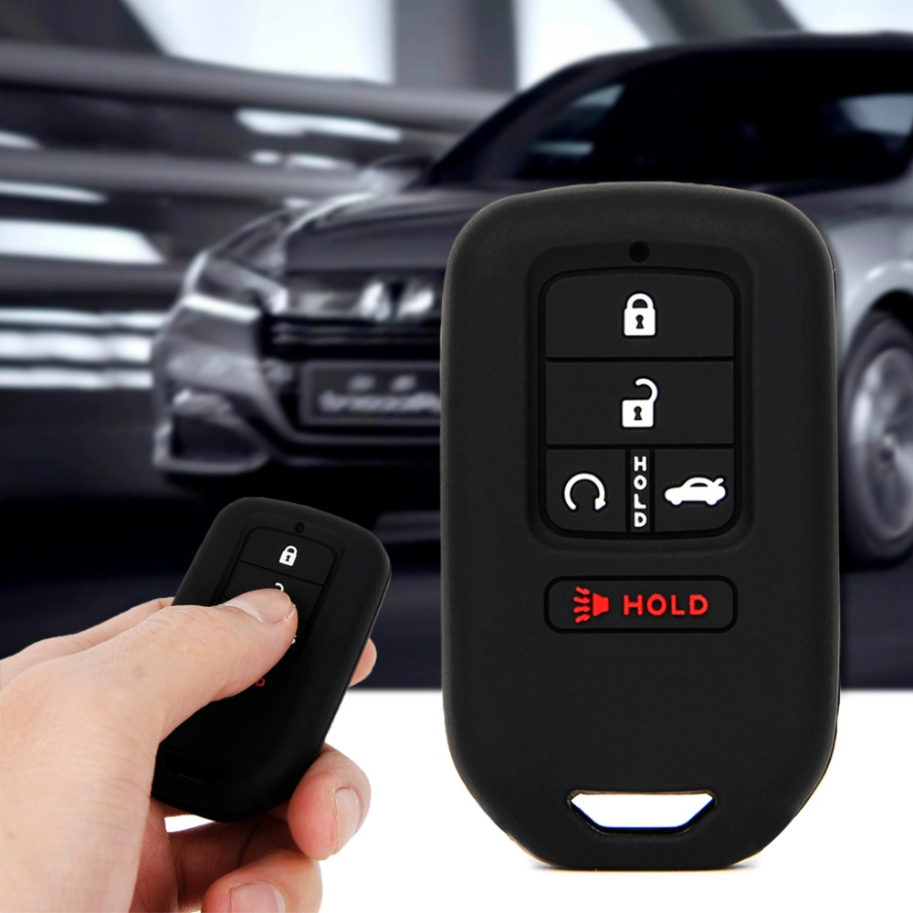 Silicone Cover fit for HONDA Accord Odyssey CRV Civic Flip Remote Key Case BK