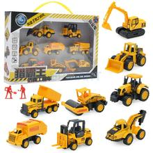 8 Pcs Mini Car Toys Excavator Tractor Engineering Vehicle set Diecasts Truck Vehicles Models Classic Cars Children Kids Toys(China)