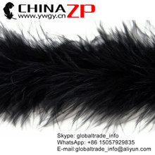 CHINAZP Factory Retail and Wholesale 50 yards/lot 20g/piece Graceful Dyed Black Marabou Feather Boas(China)