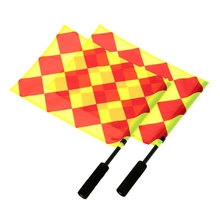 The World Cup Soccer Referee Flag Play Sports Match Football Linesman Equipment flags and banners sports flags(China)