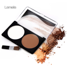 Women 2 colors Makeup Cosmetic Contour Shading Concealer Trimming Powder Palette Nude foundation palette Face Cosmetic(China)