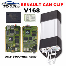 2017 High Quality AN2131QC Cypress Gold PCB Renault Can Clip V168 Full Chip Stable Function Auto Diagnostic Scanner For Renault(China)