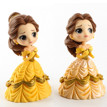 1pc 14cm Fashion Princess doll Beauty and The Beast model toys Belle doll gifts for girls(China)