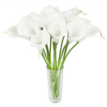 2pcs/lot Real Touch Artificial Flowers Wedding Decorative Flowers Calla Lily Fake Flowers Wedding Party Decoration Accessories(China)