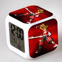 Game Figure Kingdom Hearts LED Color Glow Touch light Alarm Clock Anime figma PVC Toys