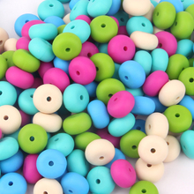 14*14*8mm Foreign trade export new baby teeth silicone beads 29 kinds of color food grade baby teeth biting abacus beads(China)