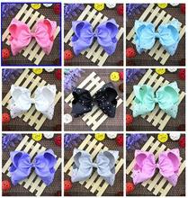 100pcs Super Large  Grosgrain Hair Bows Alligator Clips Huge Twisted Hair Bow (50pcs without rhinestone+50pcs with rhinestone)