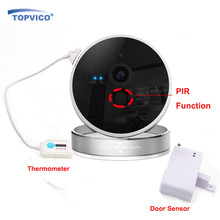 Door Sensor Detector + Wirelss Alarm WIFI IP Camera PIR Sensor 720P 1.0 MP ONVIF P2P Plug Play HOME Security CCTV Camera