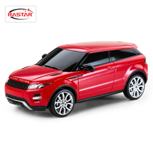 Licensed 4CH Rastar RC Cars Machines On The Radio Controlled 1:24 Scale Range Rover Evoque Remote Control Toys Boys Gifts 46909