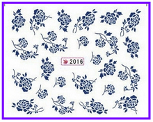 1X   Water Transfers Stickers Nail Decals Stickers Water Decal  China Blue Flower SY2016