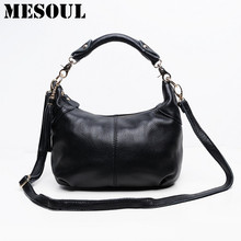 Candy color Fashion women Bags 100%Genuine Leather Women's Shoulder Handbag hobos diagonal Purse Satchel cowhide ladies soft bag