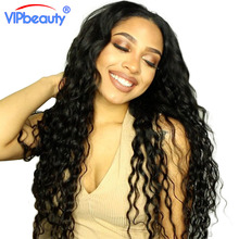 VIP beauty Indian water wave remy hair extension ,human hair weave bundles 1pcs only natural color 1b ,can be dyed free shipping(China)
