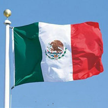 3x5' Feet Polyester Mexico Flag Mexican Country Indoor Outdoor Banner Pennant Home decoration polyester banner Mexico flag