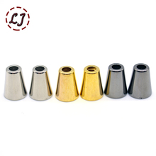 30pcs/lot silver gold black small cord end plastic stopper Toggle Clip for Paracord Bag Sports Wear Shoes garment accseeories(China)