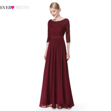 Formal Evening Dresses New Arrival 2017 Women Elegant 3/4 Sleeve Lace Sexy EP08412 Special Occasion Long Evening Dresses Gown(China)