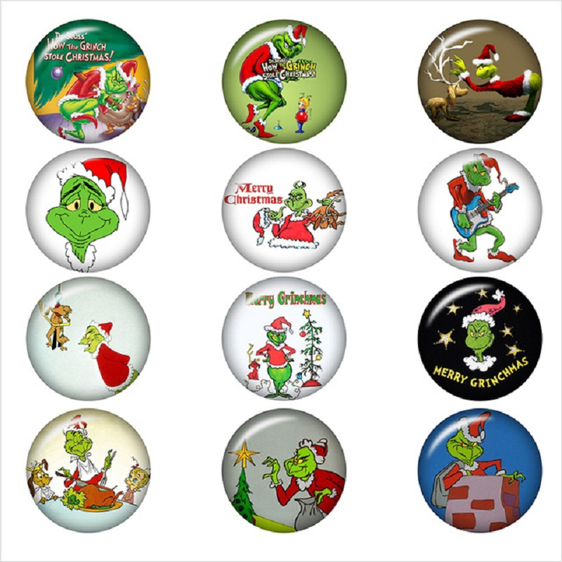 how-the-grinch-stole-christmas-glass-snap-button-DIY-jewelry-Round-photo-cabochons-flat-back-DA1162.jpg_640x640