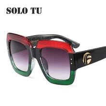 Enormes óculos de Sol Quadrados Mulheres 2018 Retro UV400 Marca Designer  Multi-cor do Sexo Feminino Óculos de Sol óculos de sol . 9d32c01abe