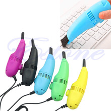 1pc Computer Keyboard Vacuum USB Cleaner Vacuum Cleaner Mini Cleaner Clean Computer Laptop Brush Dust Cleaning Kit #K400Y#