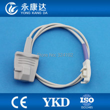 2pcs/pack Free shipping Ohmeda 8pin Reusable Adult soft tip spo2 sensor,1m,medical TPU cable for monitor patient(China)