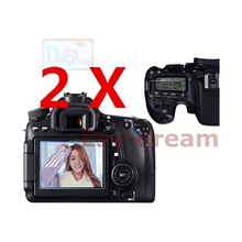 2pcs High Quality Main LCD + Shoulder Display Screen Plastic Film Protector For Canon 70D 80D