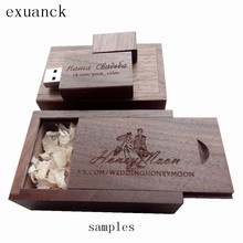 Wooden USB With Box 2.0 Memory Flash Stick Laser Engraving Wooden USB Drives For Photography Wedding (over 20pcs free logo)
