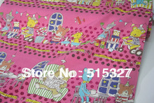 50cm*110cm Japanese KOKKA Quilting Cloth DIY Patchwork Fabric Linen Fabric  Music Night     Pink