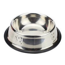 Stainless Steel Pet Product Dry Food Bowls for Dogs Feeding Bowls Drinking Water Fountain Dish Travel Pet Accessories 40(China)
