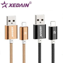 XEDAIN USB Charger Cable for iPhone 5 Power Cord Phone Charger Nylon Line Aluminum Wire for iPhone 6 6s 7 plus iphone iPad Cable