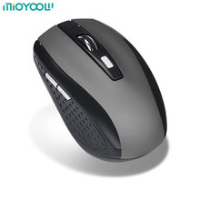 New Design 2.4GHz Wireless Optical Mouse/Mice With USB 2.0 Receiver For PC Laptop Black Blue Red Silver Color(China)