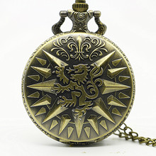 Hear Me Roar LANNISTER Theme Bronze Quartz Pocket Watch Pendant A Song of Ice and Fire Related Product Gift