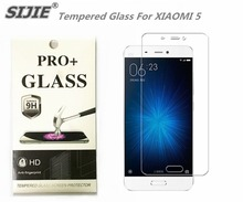 SIJIE Tempered Glass For XIAOMI 5 0.26mm MI5 MI 5 Screen Protector protective front stronger 9H discount with Retail Package